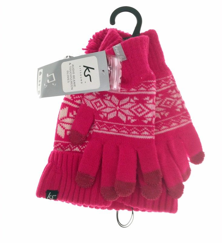 Kitsound Audio Beanie & Gloves Fair Isle - iPhonebutiken.se