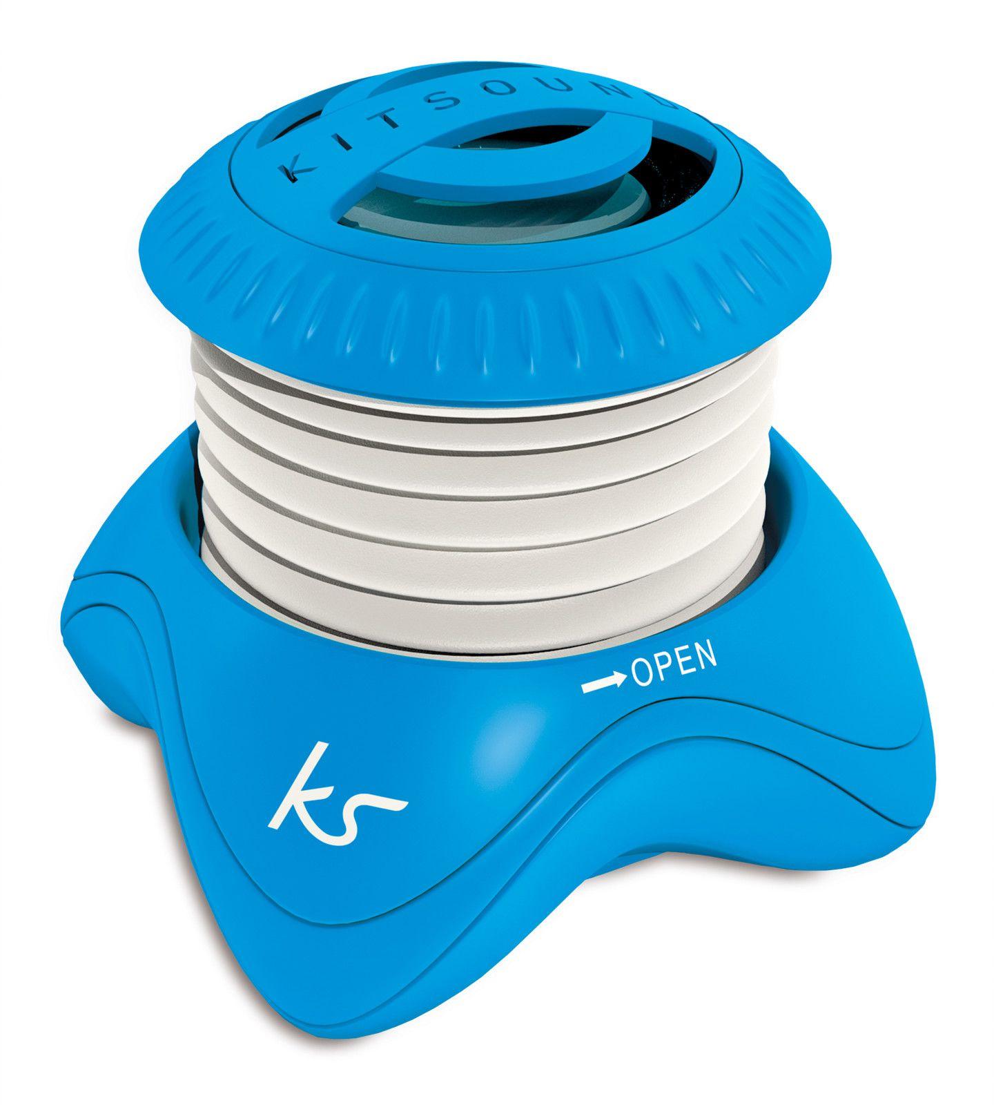 Kitsound Invader Portable Speaker - Blå