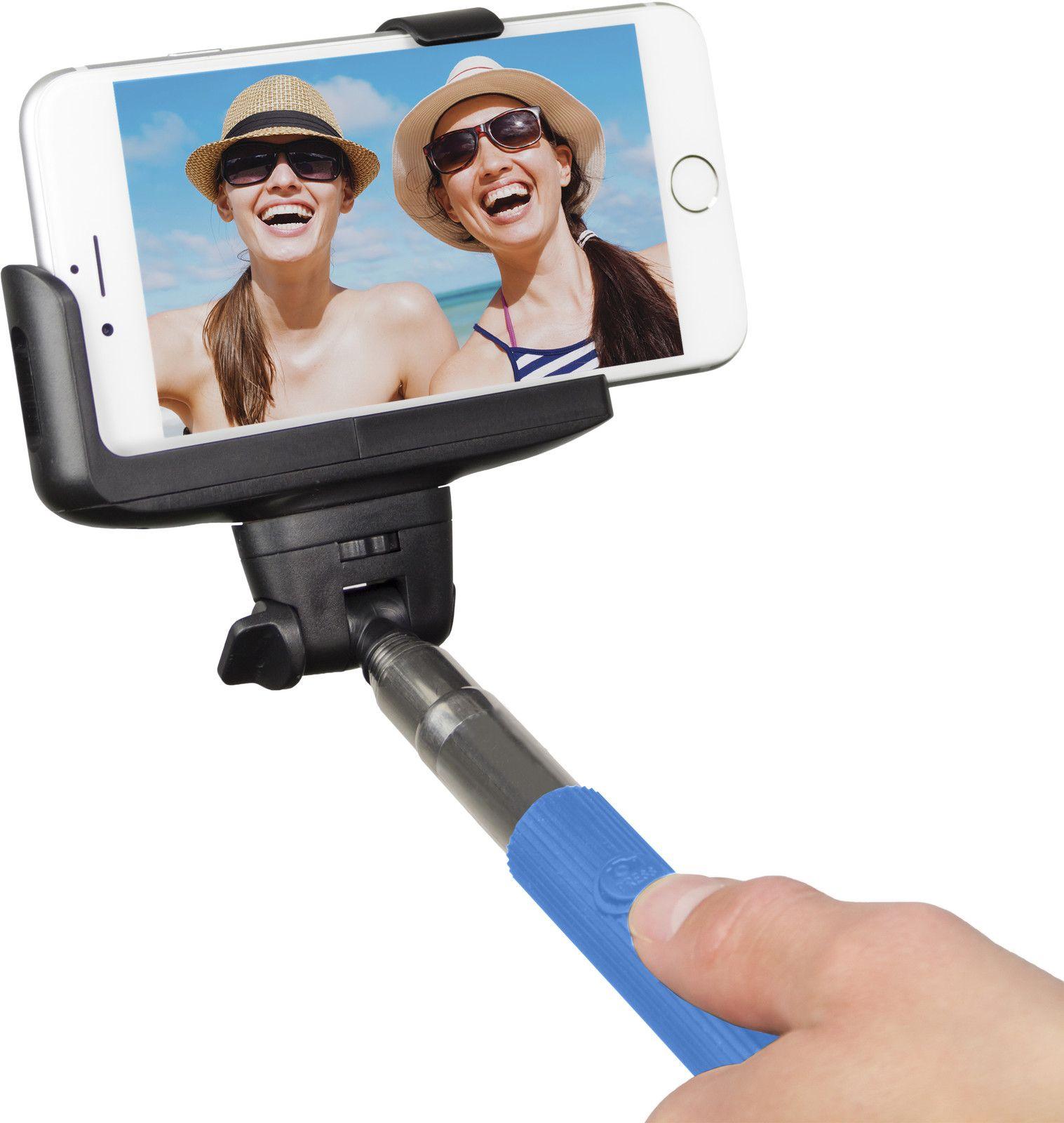 Kitvision Selfie Stick 23-110 cm (iPhone) - Blå