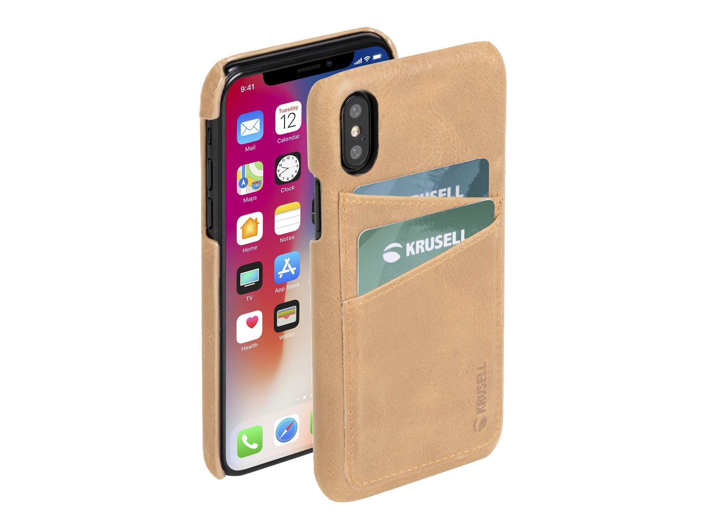 Krusell Sunne Kortfack Skal till iPhone Xr Svart