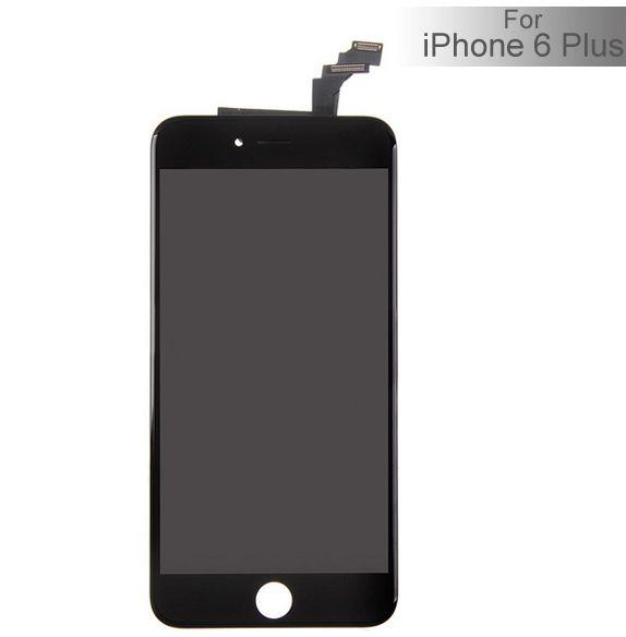 iPhone 6 Plus Ytterglas med LCD - Svart