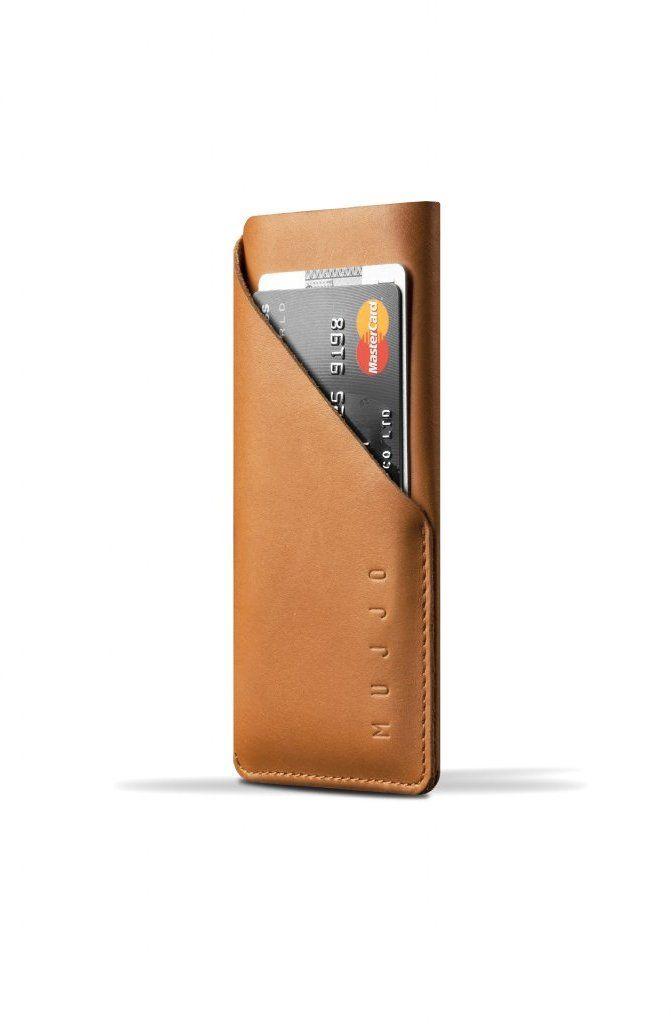 Mujjo Leather Wallet Sleeve (iPhone 8/7/6/6S) - Brun