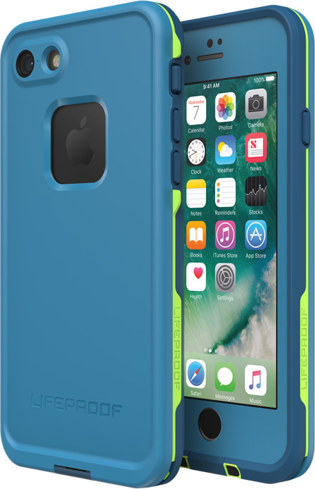 LifeProof Fre Case (iPhone 8) - blå/lime