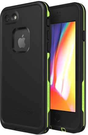 LifeProof Fre Case (iPhone 8) - svart/lime