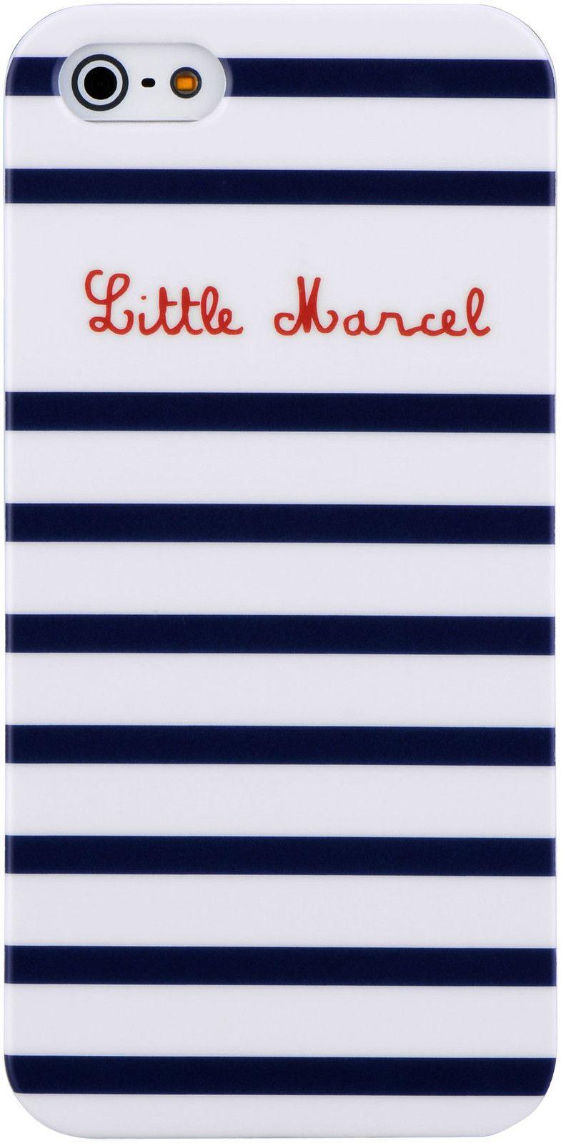 Little Marcel Hard Case Stripes (iPhone 5/5S/SE)