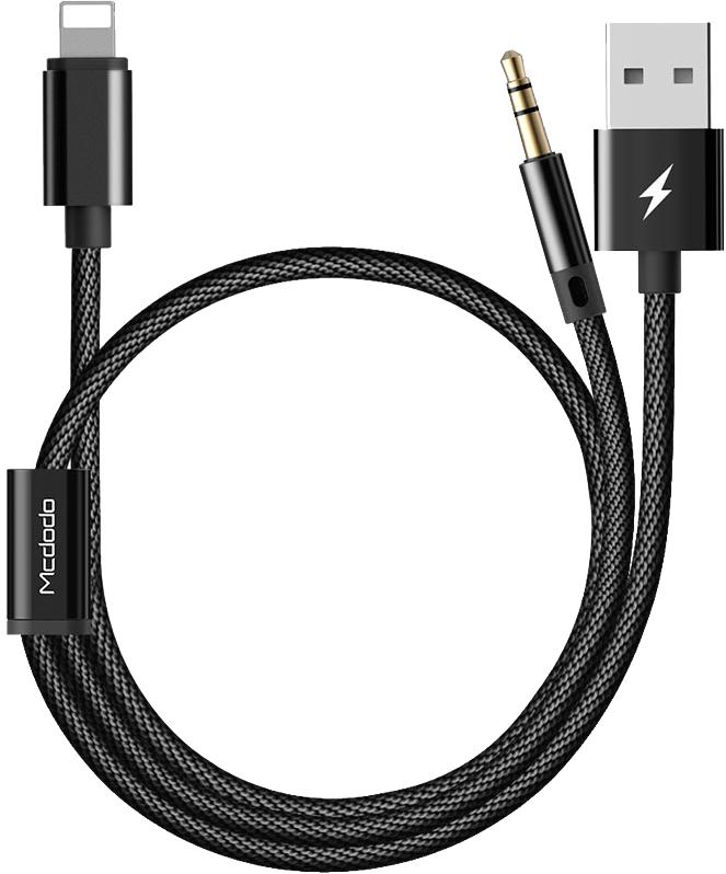 Mcdodo Ljudadapter - Lightning till 3,5 mm & USB