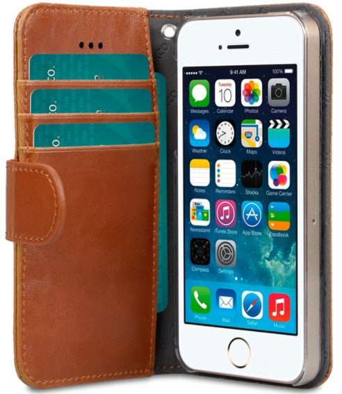 Melkco Wallet Case (iPhone 5/5S/SE) - Svart