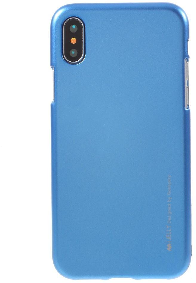 Mercury Metallic Jelly Case (iPhone X/Xs) - Blå