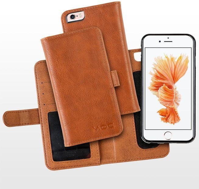 MOC Basic Leather Flip Case (iPhone 7) – Brun