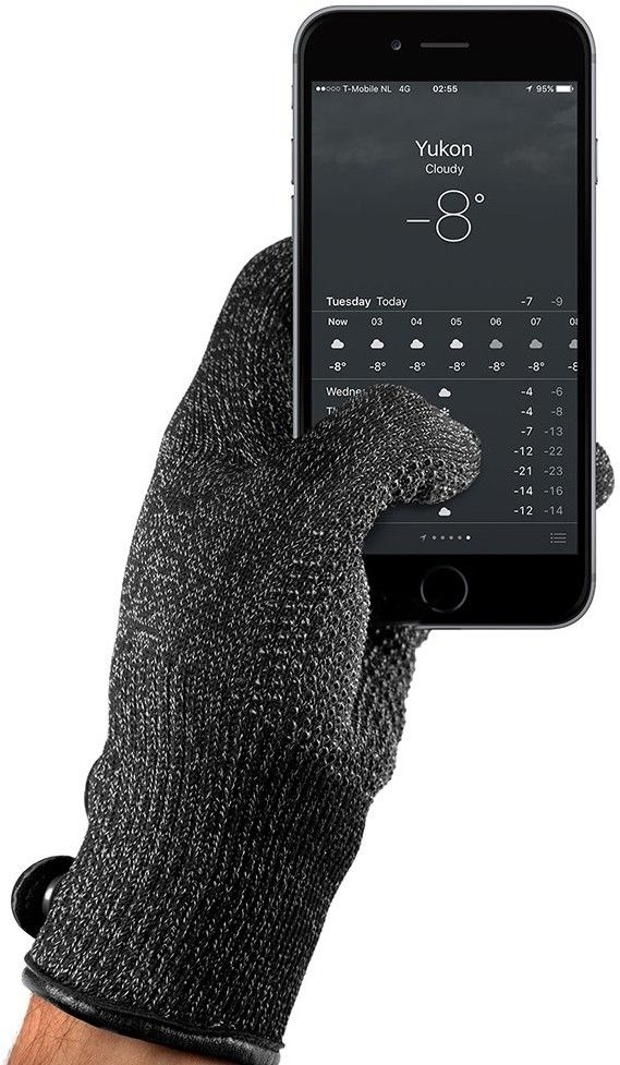 Mujjo Double-layered Touchscreen Gloves – Large