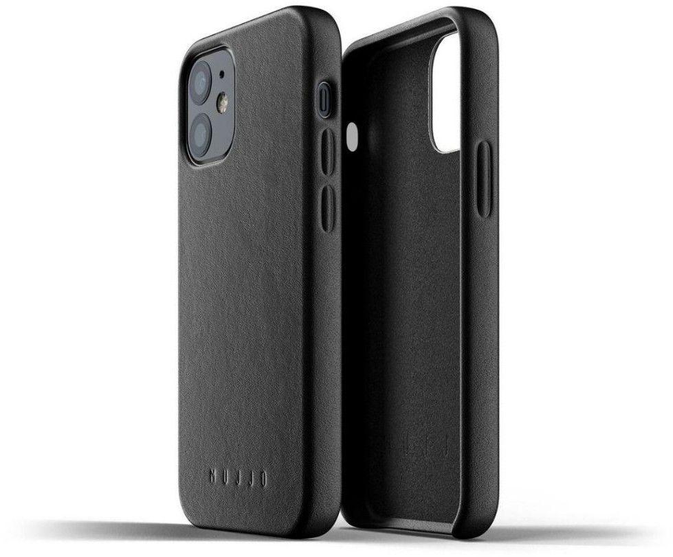 Mujjo Full Leather Case (iPhone 12 mini) - Blå