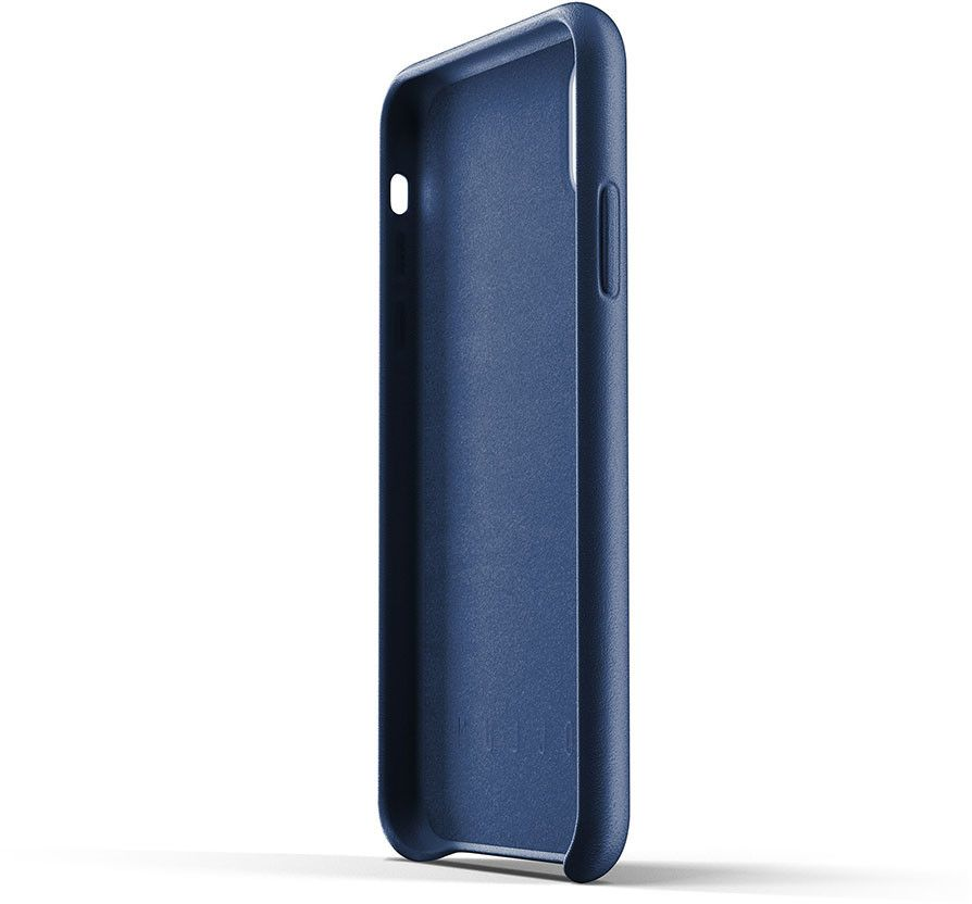 Mujjo Full Leather Case (iPhone Xr) - Blå