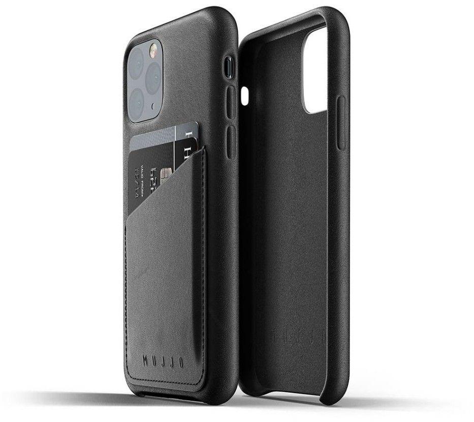 Mujjo Full Leather Wallet Case (iPhone 11 Pro) - Brun