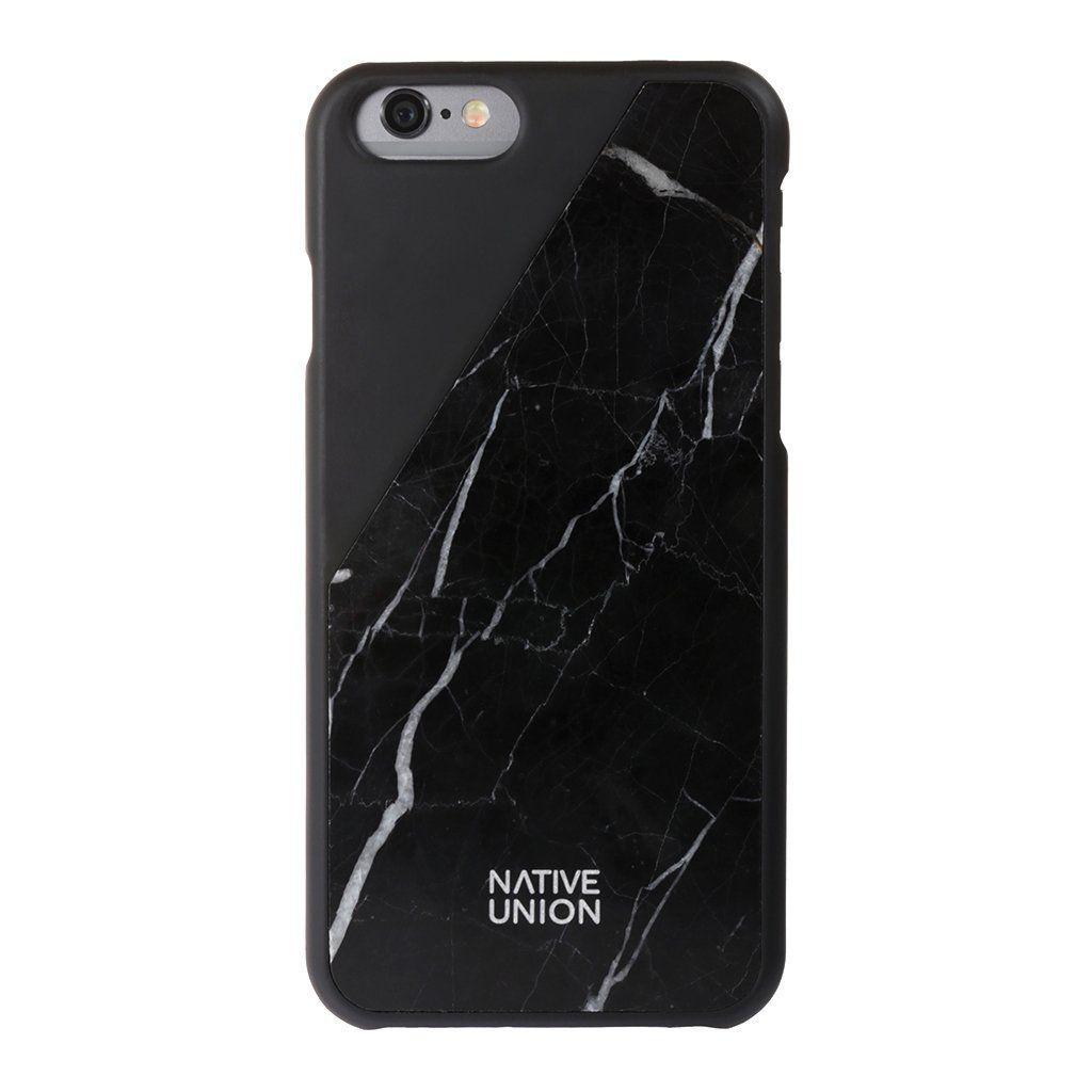 Native Union Clic Marble (iPhone 6/6S) - Svart