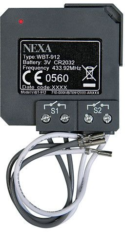 Nexa WBT-912 – inbyggd 2-kanals-dimmer