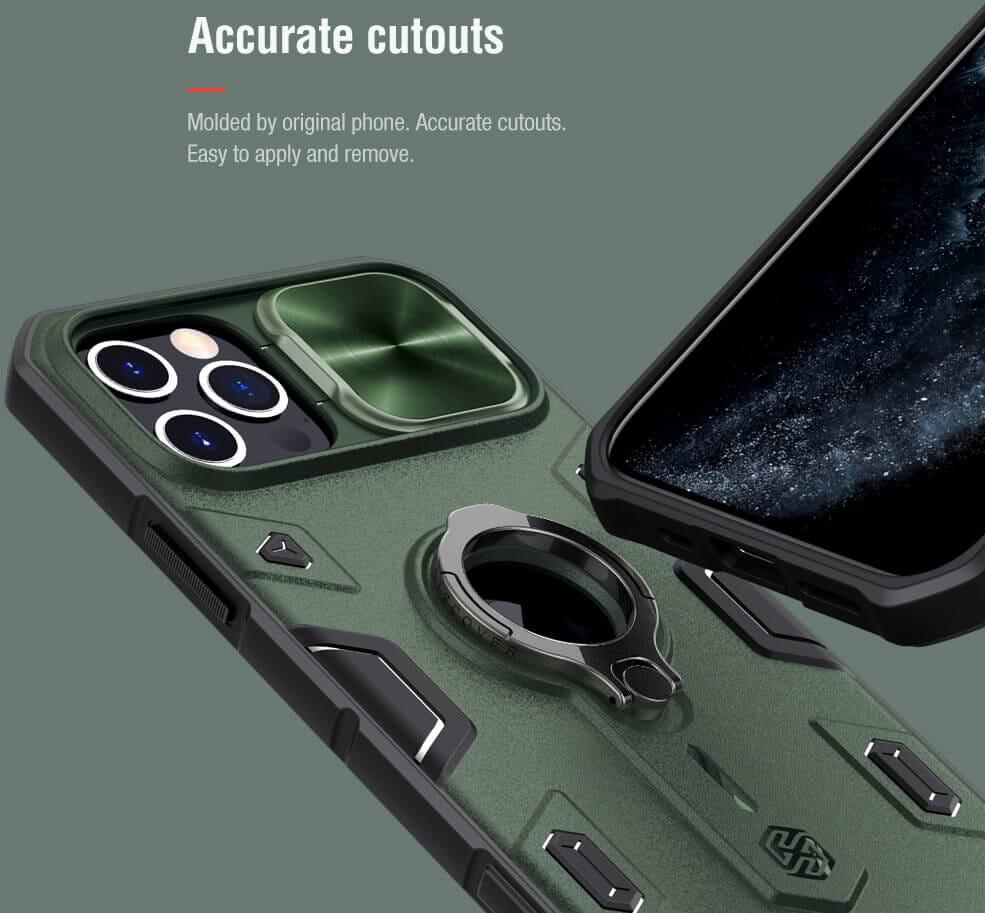 Nillkin CamShield Armor Case (iPhone 12/12 Pro) - Blå