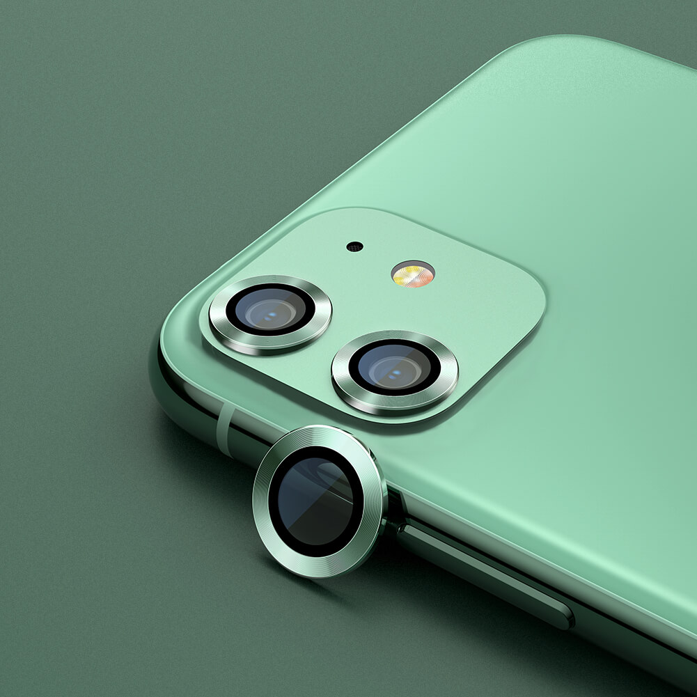 Nillkin CLRFilm Camera Glass (iPhone 12/12 Pro/12 mini/11) - 2-pack - Grön