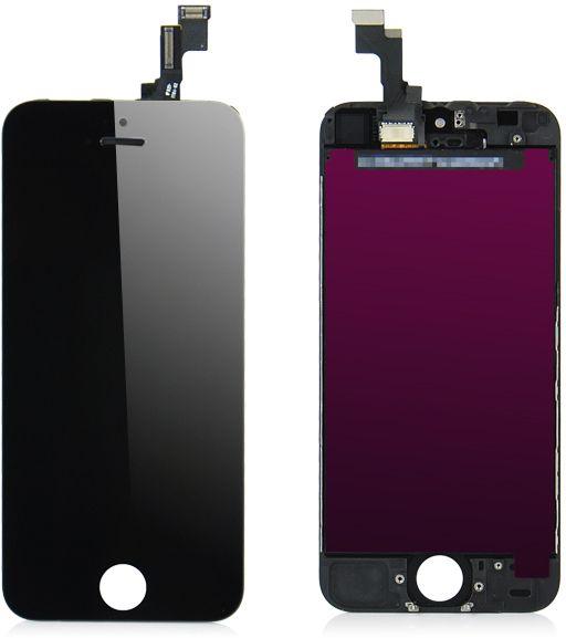 iPhone 5S Ytterglas med LCD – Svart