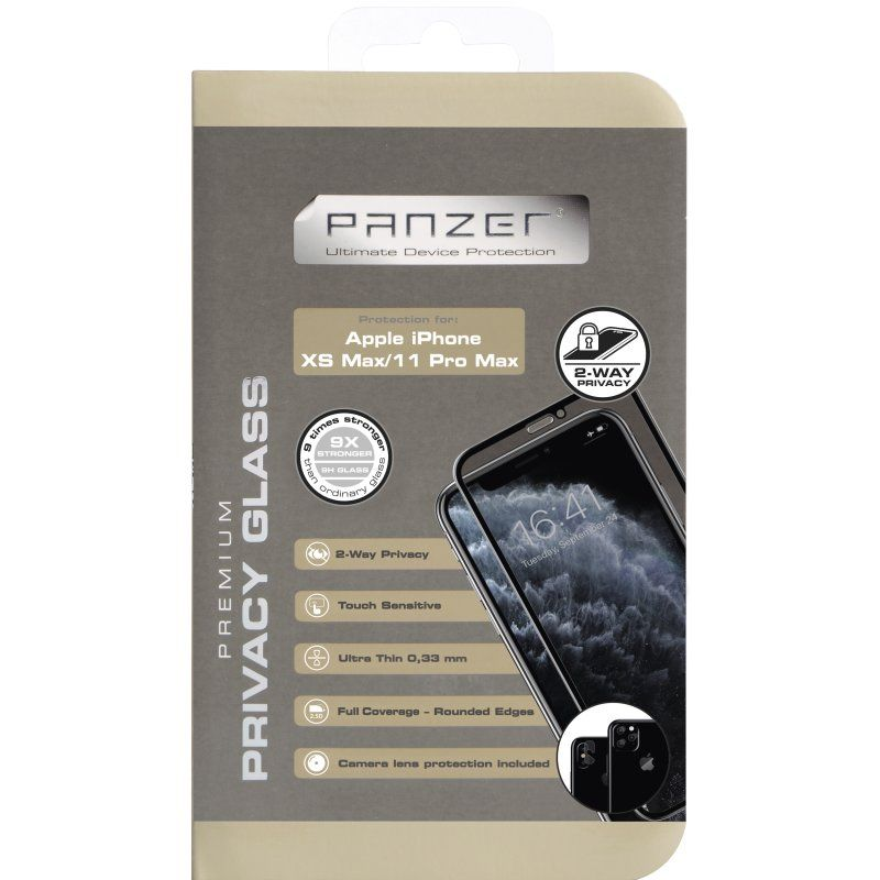 Panzer Curved Privacy Glass 2-way V2 (iPhone 11 Pro Max/Xs Max)