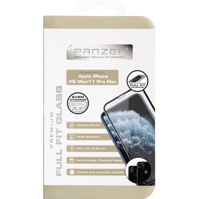 Panzer Full-Fit Silicate Glass V2 (iPhone 11 Pro Max/Xs Max)