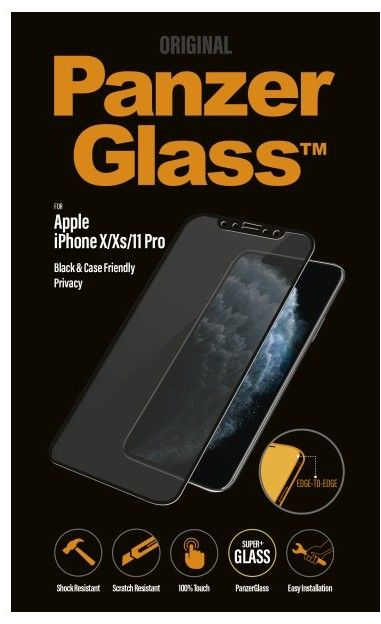 PanzerGlass Curved Edges Privacy (iPhone 11 Pro/X/Xs)