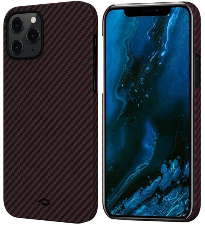 Pitaka MagEZ Twill Case (iPhone 12 Pro Max) - Svart/grå
