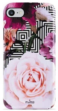 Puro Cover Geo Flowers Pink Peonies (iPhone SE2/8/7/6/6S)