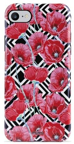 Puro Cover Geo Flowers Red Peonies (iPhone 8/7/6/6S)