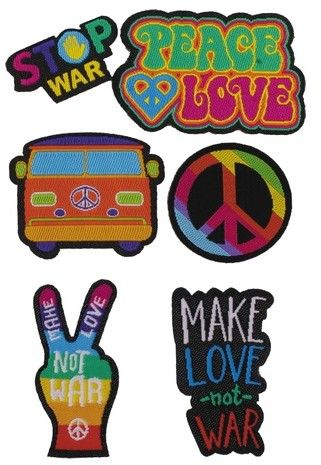 Puro Kit Patch Mania - Peace & Love