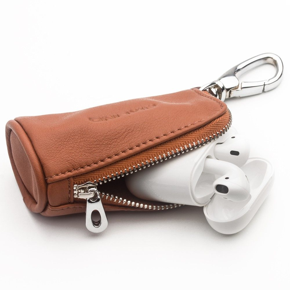 Qialino Leather Pouch Bag for Apple Airpods