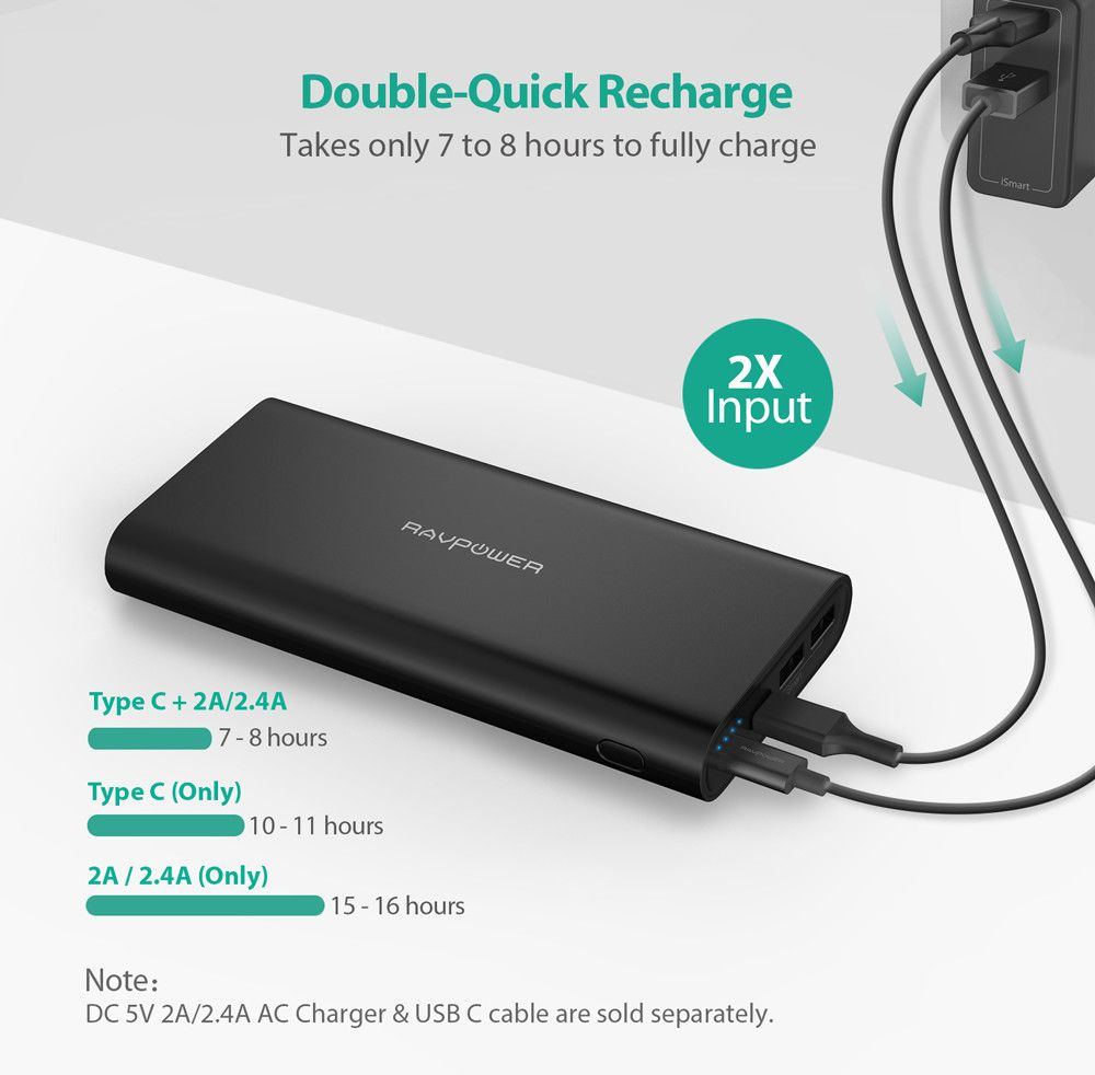 RAVPower Ace 26800 mAh Powerbank