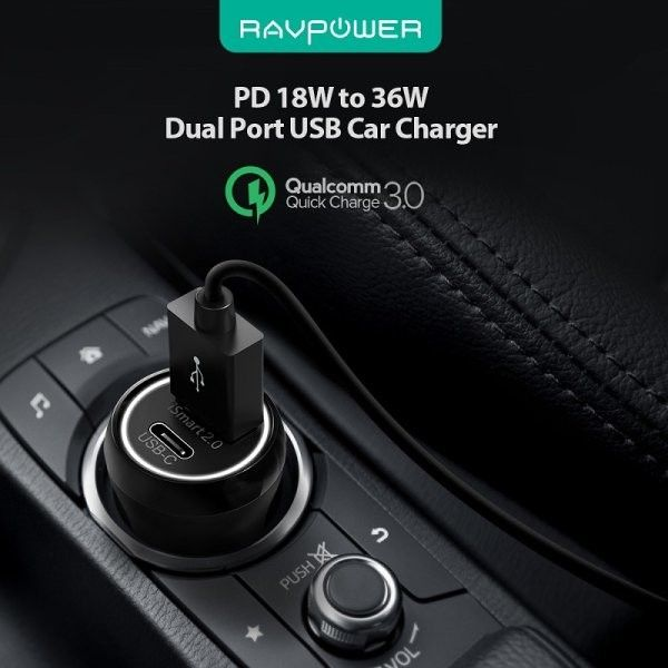RAVPower Billaddare PD 2xUSB