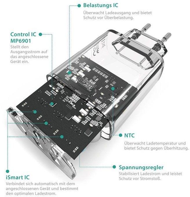 RAVPower Väggladdare 3xUSB