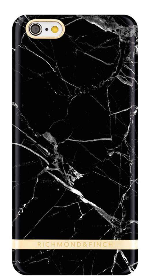 Richmond & Finch Glossy Marble (iPhone 6(S) Plus) - Svart/grön