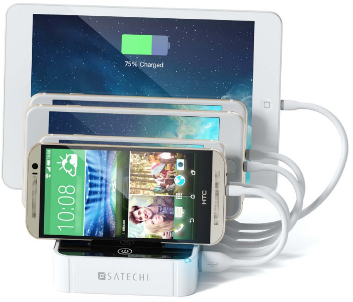 Satechi 5-Port USB Charging Station - vit