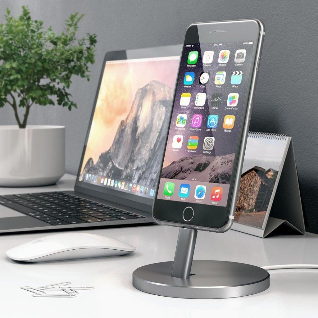 Satechi Aluminum Lightning Stand (iPhone) - Grå