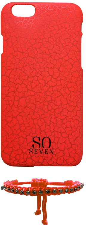 So Seven Fluo Cracks (iPhone 6/6S) - Orange