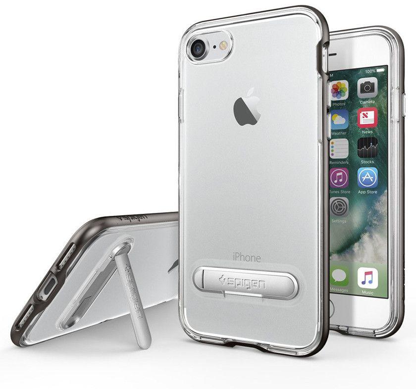 Spigen Crystal Hybrid (iPhone 7) – Grå