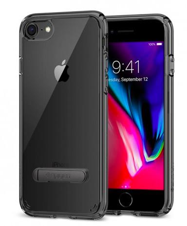 Spigen Ultra Hybrid S (iPhone SE2/8/7) - Gagatsvart