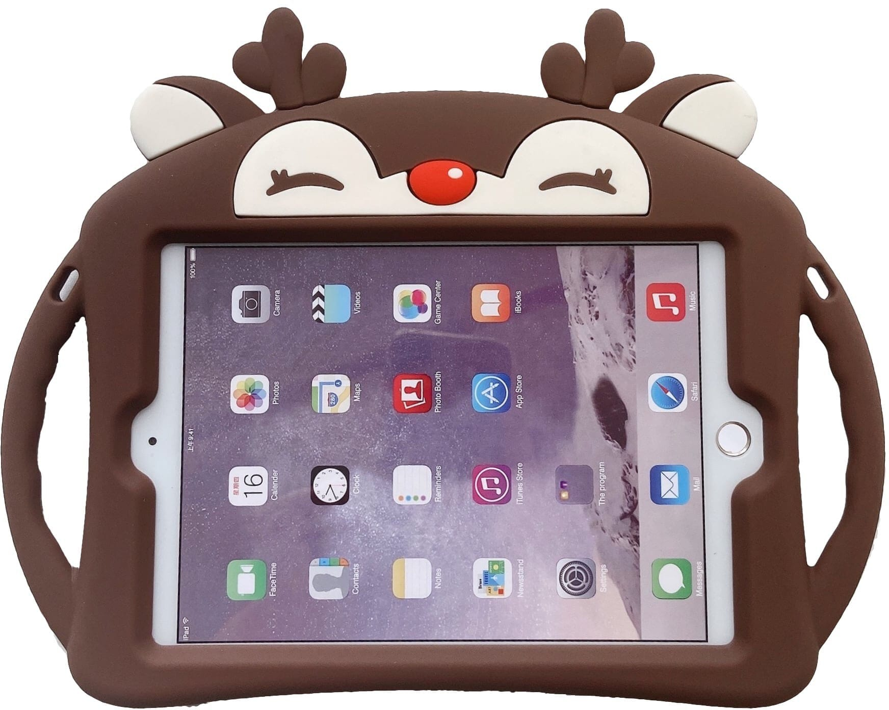 Trolsk Kids Case with strap - Brown Deer (iPad mini 5/4)