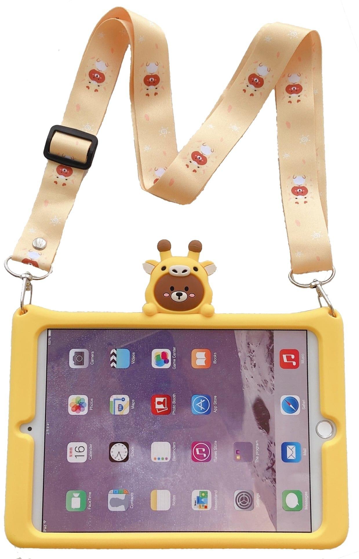Trolsk Kids Case with strap - Giraffe (iPad 10,2)