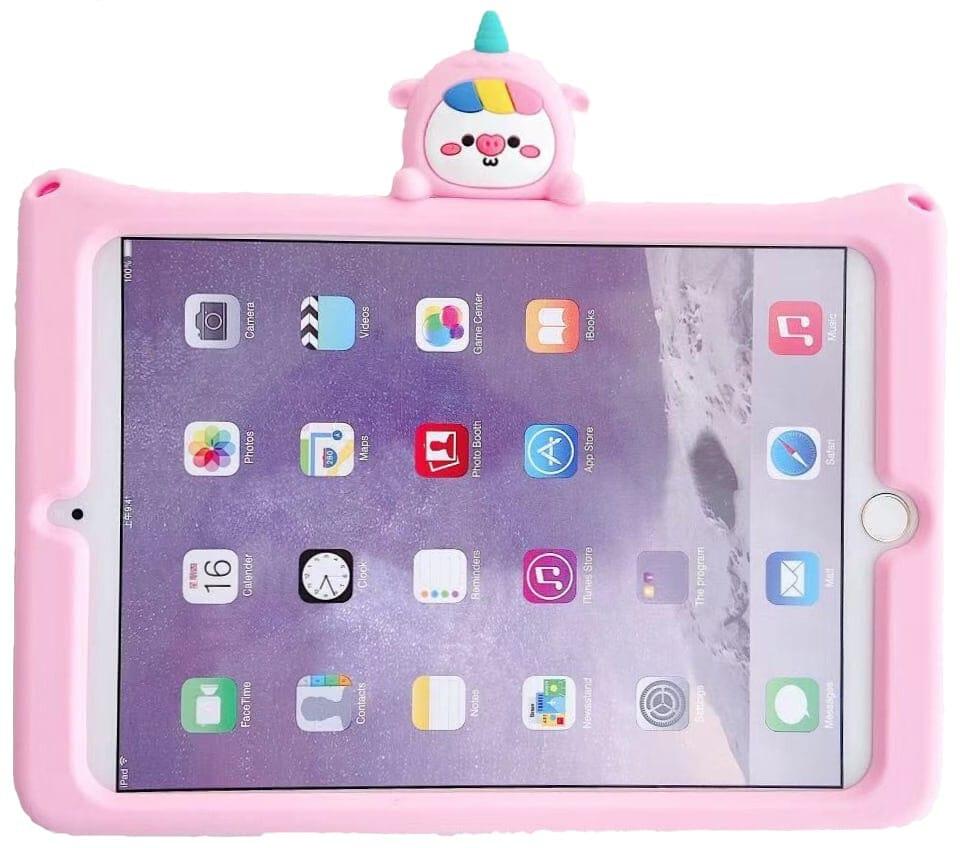 Trolsk Kids Case with strap - Pink Unicorn (iPad 10,2)