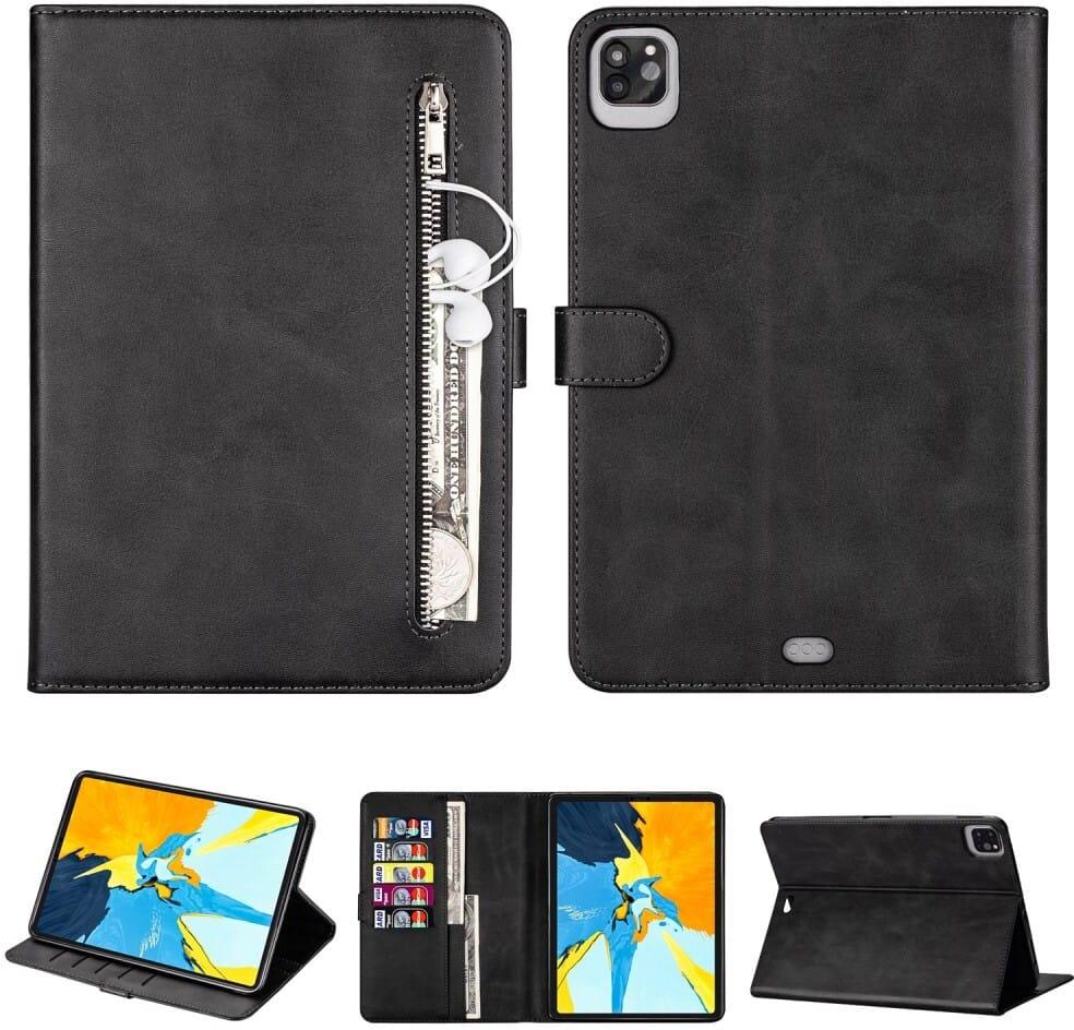 Trolsk Zipper Wallet Folio (iPad Pro 12,9 (2018/2020)) - Brun