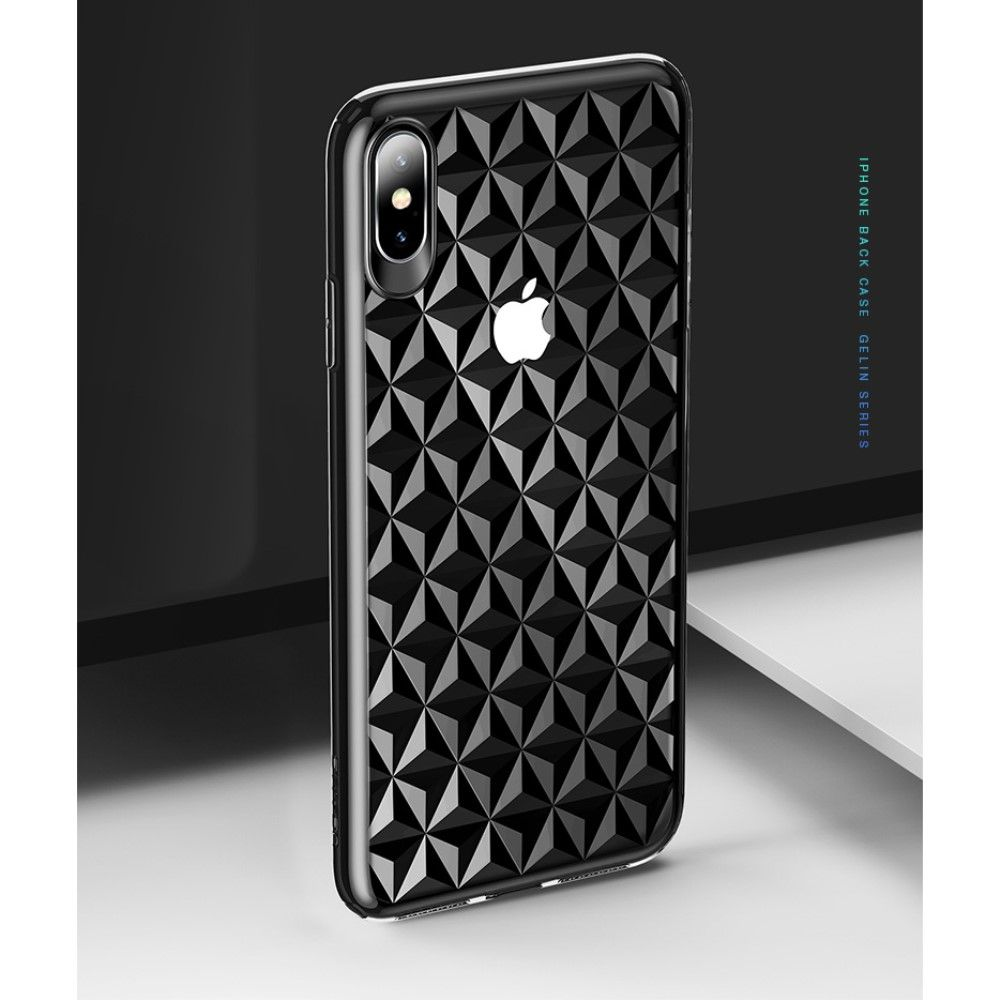 Usams Diamond Pattern Case (iPhone Xs Max) - Svart