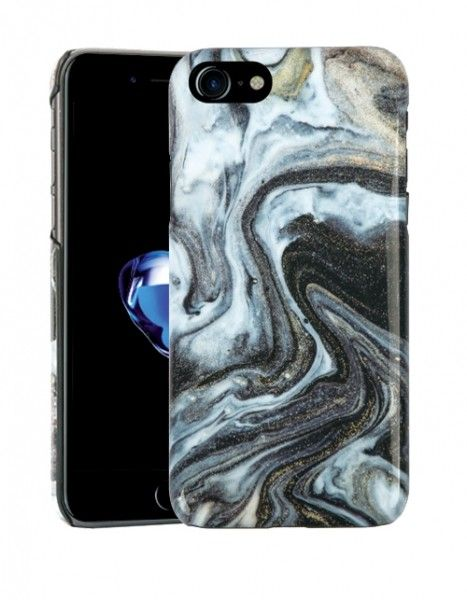 Vivanco Vision Amazing Marble (iPhone SE2/8/7/6/6S) - Black Gold