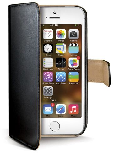 Celly Wallet Case (iPhone 5/5S) - svart