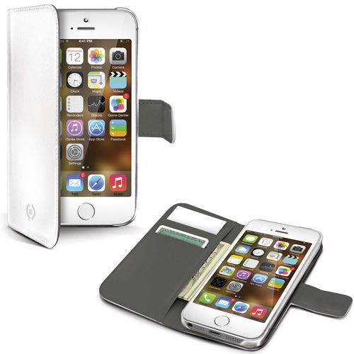 Celly Wallet Case (iPhone 5/5S) - vit