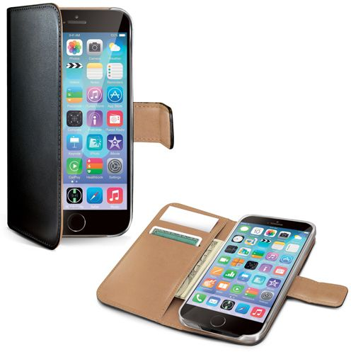 Celly Wallet Case (iPhone 6/6S) - Svart