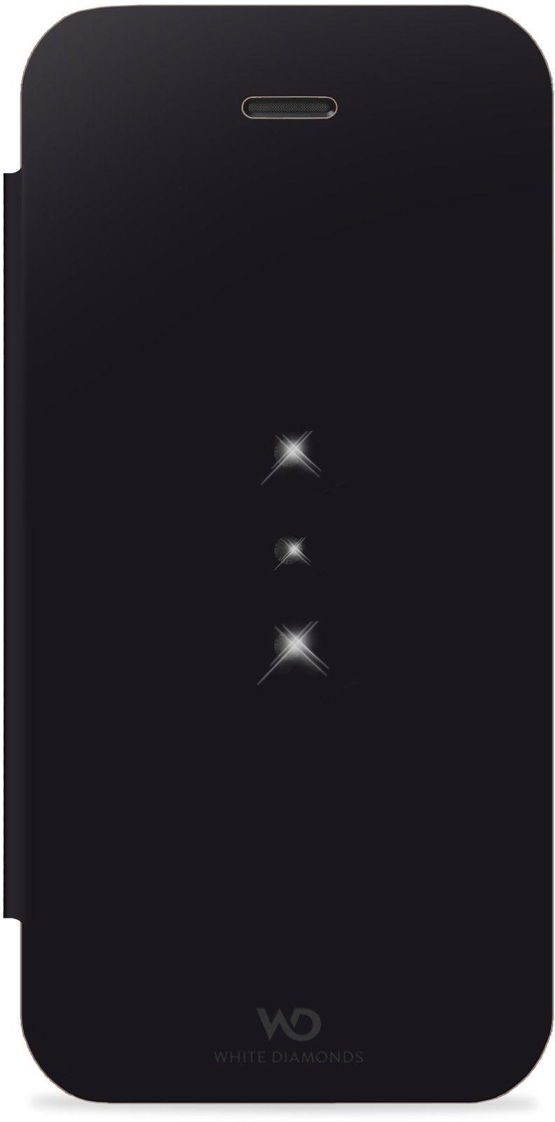 White Diamonds Crystal Booklet (iPhone 5C) - Svart