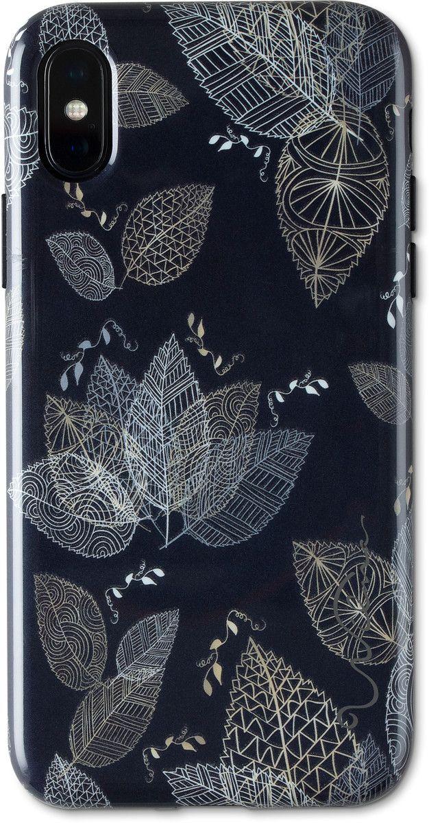 Wilma Midnight Shine - Leaf Lines (iPhone X/Xs)